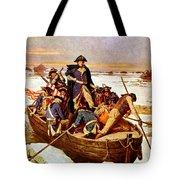 General Washington Crossing The Delaware River Tote Bag