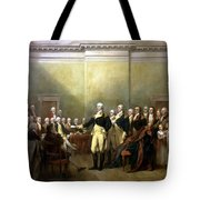 General Washington Resigning His Commission Tote Bag by War Is Hell Store