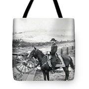 General William T Sherman On Horseback - C 1864 Tote Bag