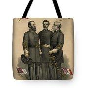 Generals Jackson Beauregard And Lee Tote Bag