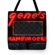 Gene's Hamburgers  Tote Bag