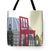 Geneva Skyline Poster Tote Bag