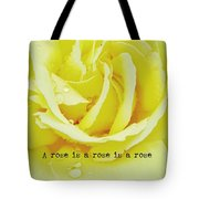 Gentle Gold Quote Tote Bag