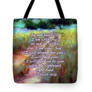 Gentle Journey With Bible Verse Tote Bag
