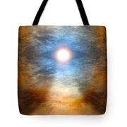 Gentle Mantra Om Light Glowing Into The Sea Tote Bag