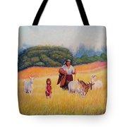 Gentle Shepherdess Tote Bag