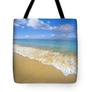 Gentle Waves Rolling Tote Bag