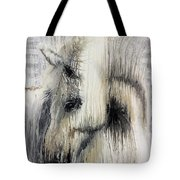 Gentle White Horse Tote Bag