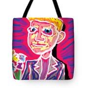 Gentleman W Floweres Tote Bag