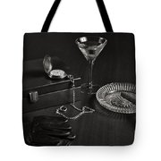 Gentleman's Pause In Monochrome Tote Bag