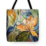 Geo Day Lilies Tote Bag