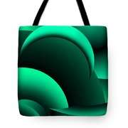 Geometric Abstract In Green Tote Bag