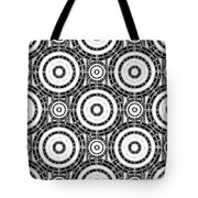 Geometric Black And White Tote Bag