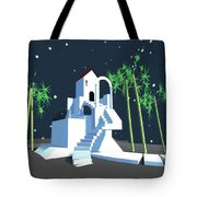 Geometric Building Tote Bag