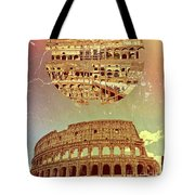 Geometric Colosseum Rome Italy Historical Monument Tote Bag