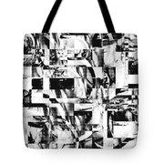 Geometric Confusion - Black And White Tote Bag