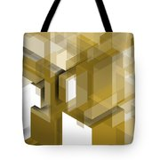 Geometric Gold Composition Tote Bag