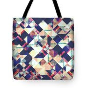 Geometric Grunge Pattern Tote Bag
