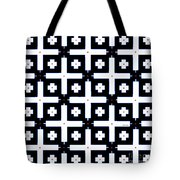 Geometric In Black And White Tote Bag