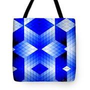 Geometric In Blue Tote Bag