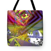 Geometric Rays Happiness Tote Bag