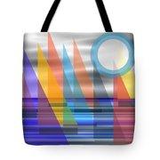 Geometric Sailing Tote Bag