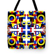 Geometric Shapes Abstract Square 2 Tote Bag