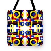 Geometric Shapes Abstract Square 3 Tote Bag