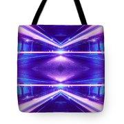Geometric Street Night Light Pink Purple Neon Edition  Tote Bag