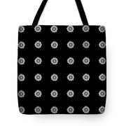 Geometric Sunflowers Black White Tote Bag