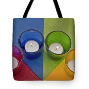 Geometrical Shapes, Colours And Candles Tote Bag