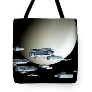 Geometry Spaceships Tote Bag