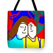George And Emily Tote Bag