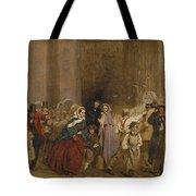 George Elgar Hicks   Sketch Of The General Post Office  One Minute To Six  1860 Tote Bag