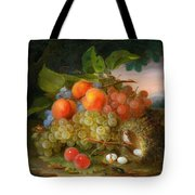 George Forster  Still Life With Fruit And A Birds Nest Tote Bag