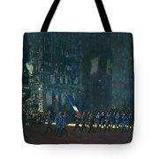 George Luks   Blue Devils On Fifth Avenue   1918 Tote Bag