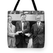 George Sisler - Babe Ruth And Ty Cobb - Baseball Legends Tote Bag by International  Images