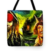 George Washington And Abraham Lincoln The Pirates Tote Bag