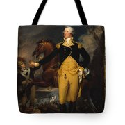 George Washington Before The Battle Tote Bag