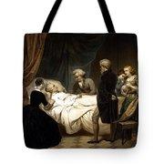 George Washington On His Deathbed Tote Bag