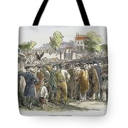 George Whitefield /n(1714-1770). English Evangelist, Preaching To A Crowd: Engraving, 19th Century Tote Bag