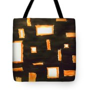 Geosequence In Black And Copper Tote Bag