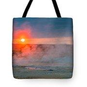 Geothermal Sunrise Tote Bag