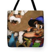 Geppetto And Pinochio Tote Bag