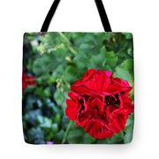 Geranium Flower - Red Tote Bag