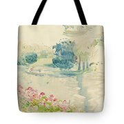 Geraniums By The Lake Tote Bag