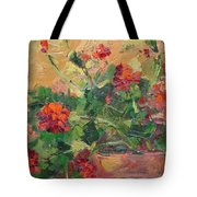 Geraniums II Tote Bag
