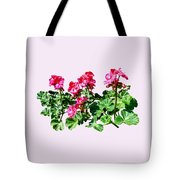 Geraniums In A Row Tote Bag