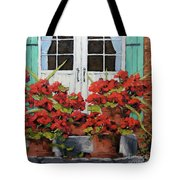 Geraniums On The Porch Tote Bag