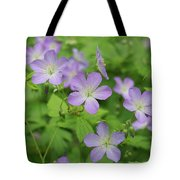 Geraniums Spring Wildflowers Tote Bag
